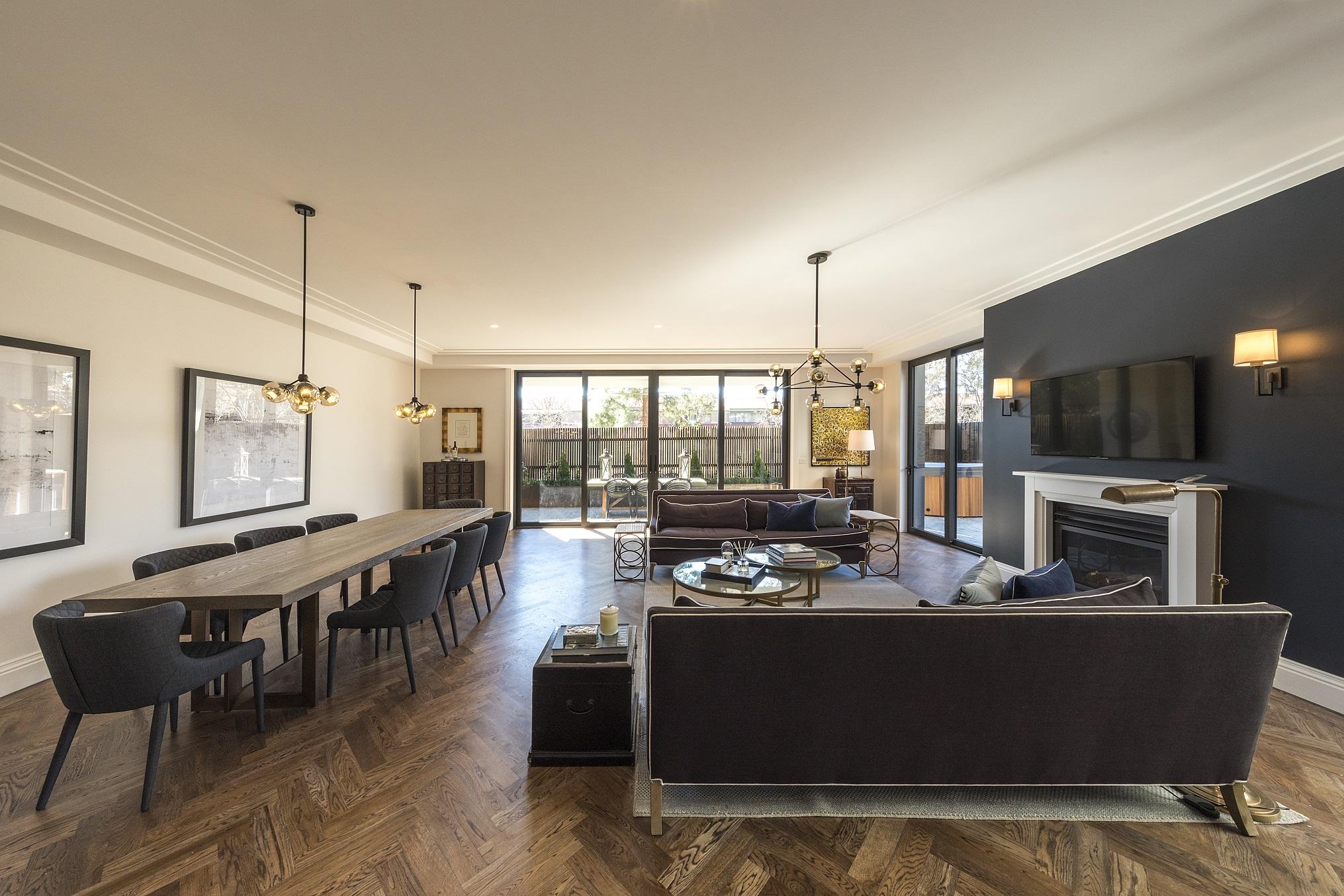 Mercer Apartments Lounge Preferred Builders